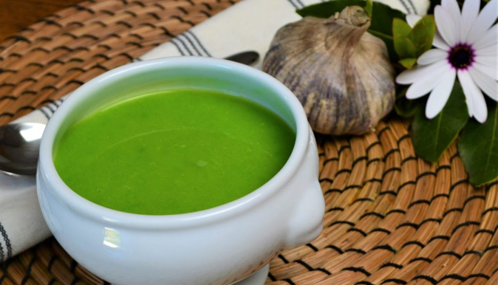 Try our light and fresh garden pea soup recipe with parsley