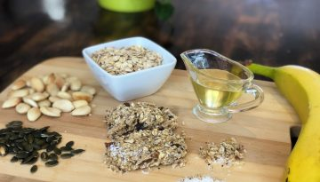Banana, nut, seed and oat cookie recipe