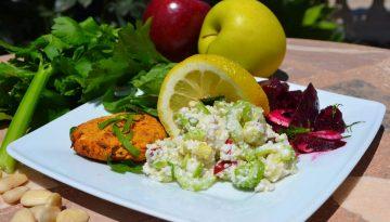 Breathe easy: Celery, apple and almond salad recipe