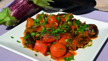 Bring colour and flavour with creole aubergines recipe