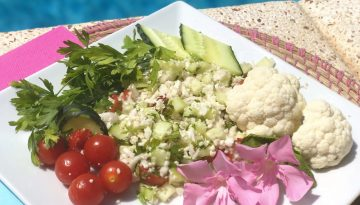 Feel cool this summer - raw cauliflower tabbouleh recipe