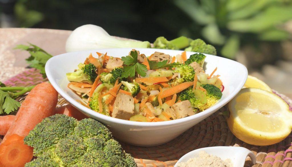 Fresh, tasty and light - vegan tofu sushi bowl recipe