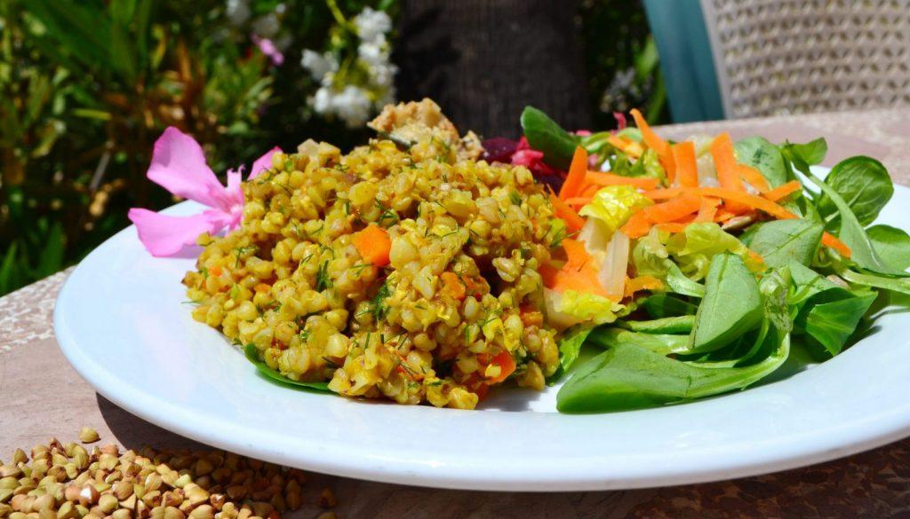 Gluten-free buckwheat salad recipe