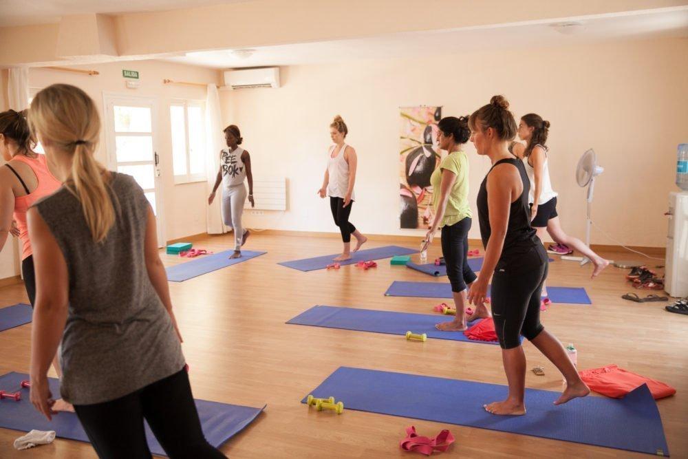 Indoor activity studio and outdoor yoga terrace