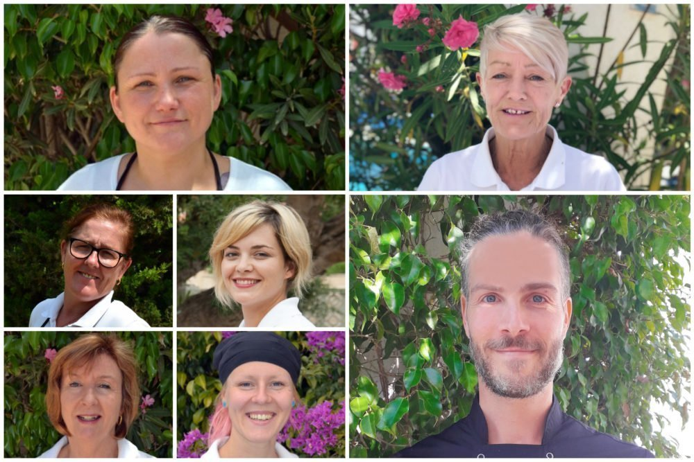 Meet the team - Barbel, Lorna, Virginia, Jan, Marsa, Sue and Paolo