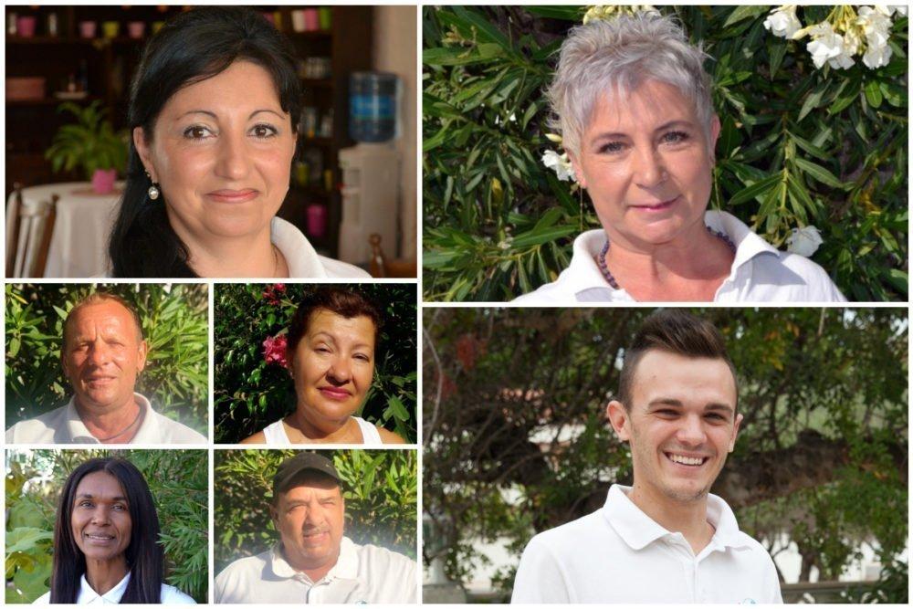 Meet the team - Cristina (manager), Mircia, Olga, Cris B, Antonio, Lumi and Alex
