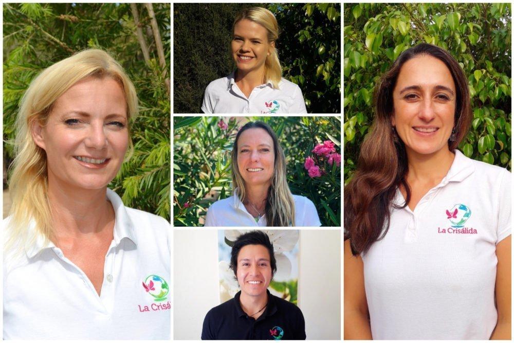 Meet the team - Tessa, Sylvia, Amanda, Juan and Tania