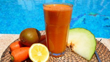 Melon for lunch - summer fresh melon juice recipe