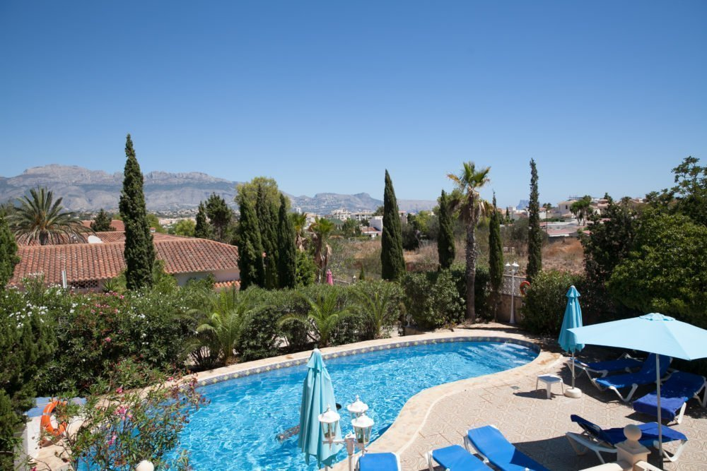 Outdoor swimming pools, mature gardens and outside dining