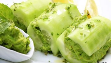 Recipe - Cucumber stuffed with green pea pate