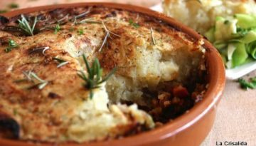 Recipe - Lentil Shepherds Pie with sweet potato and parsnip mash
