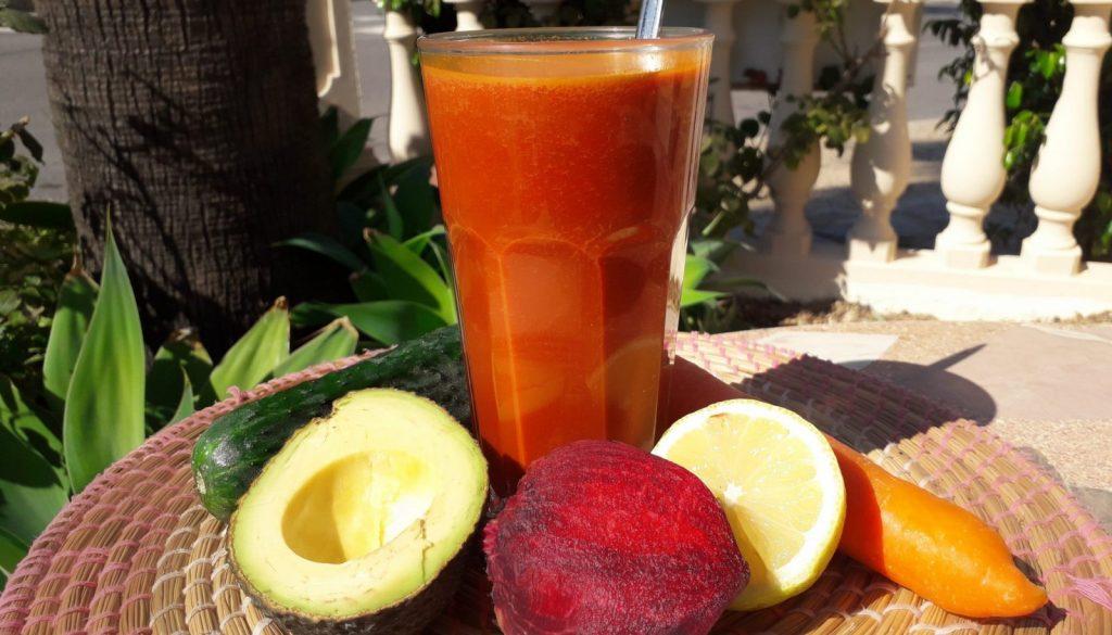Red eye no more - Carrot juice recipe