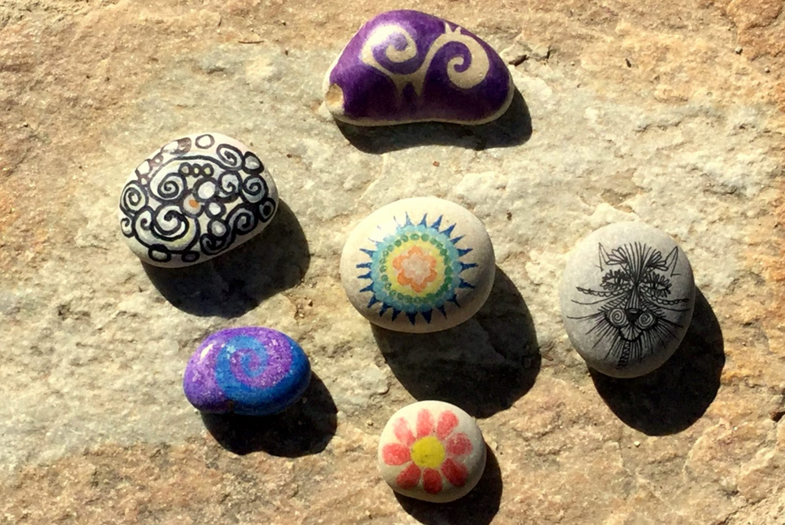 Relaxation on the rocks - create your intention rocks