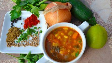 Vegan Mexican corn soup recipe