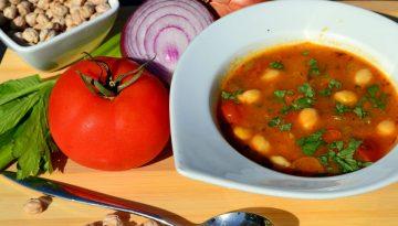 Vegan Moroccan chickpea soup recipe