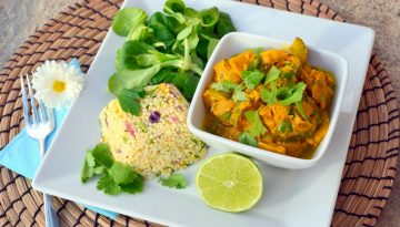 Vegan Thai yellow curry with vegetables recipe