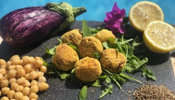 Vegan chickpea and aubergine bites recipe