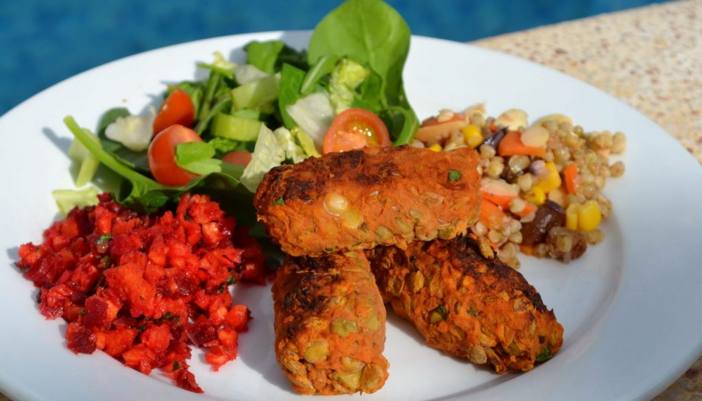 Vegan lentil sausage recipe