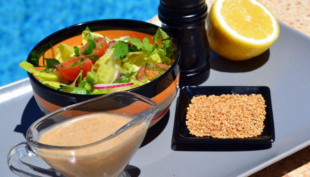 Vegan sesame vinaigrette salad dressing recipe