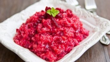 We love beets - Recipe for Beetroot Risotto