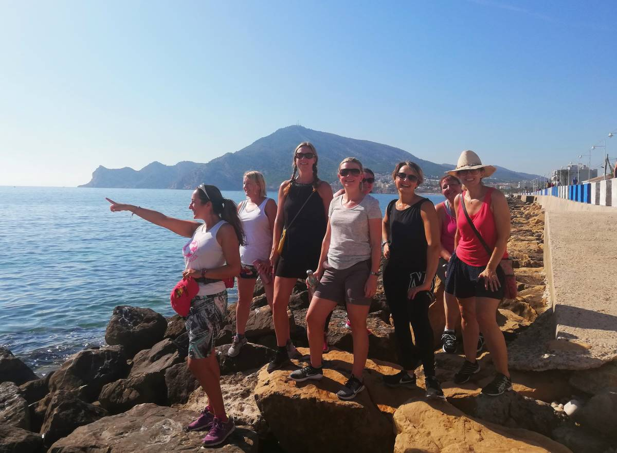 Activities walks beach walk Costa Blanca Spain