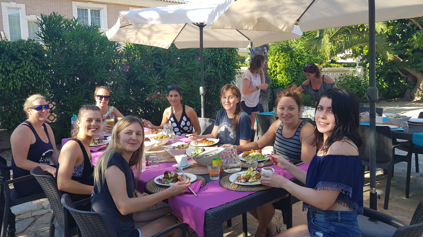 Plant-based lunch food at health retreat Spain