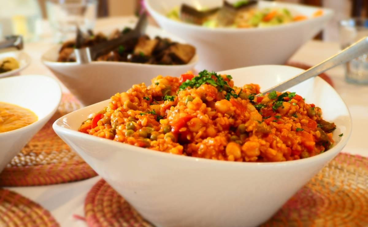 Plant-based vegan food at La Crisalida health retreats