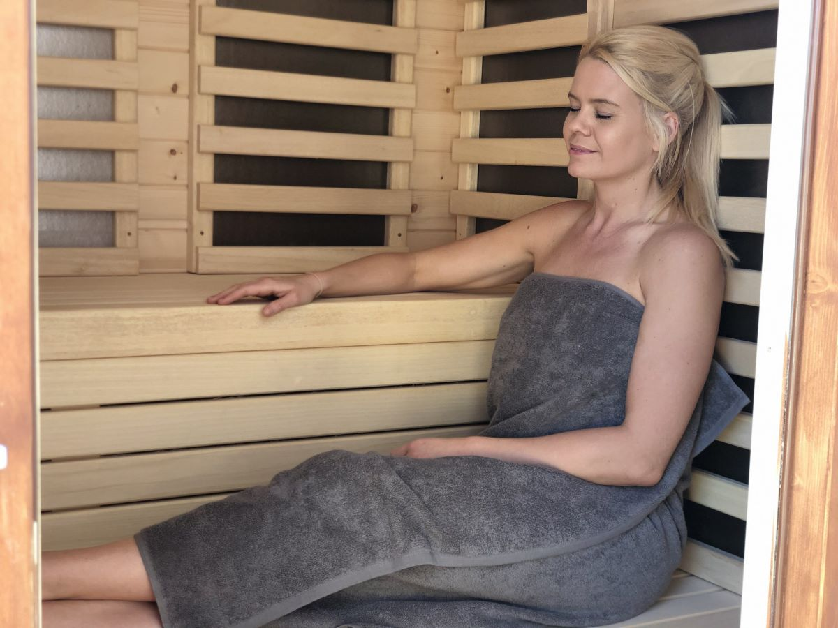 Infra red sauna for detox retreat spain