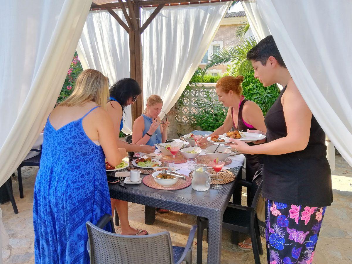 Facilities outdoor dining area at La Crisalida health retreat