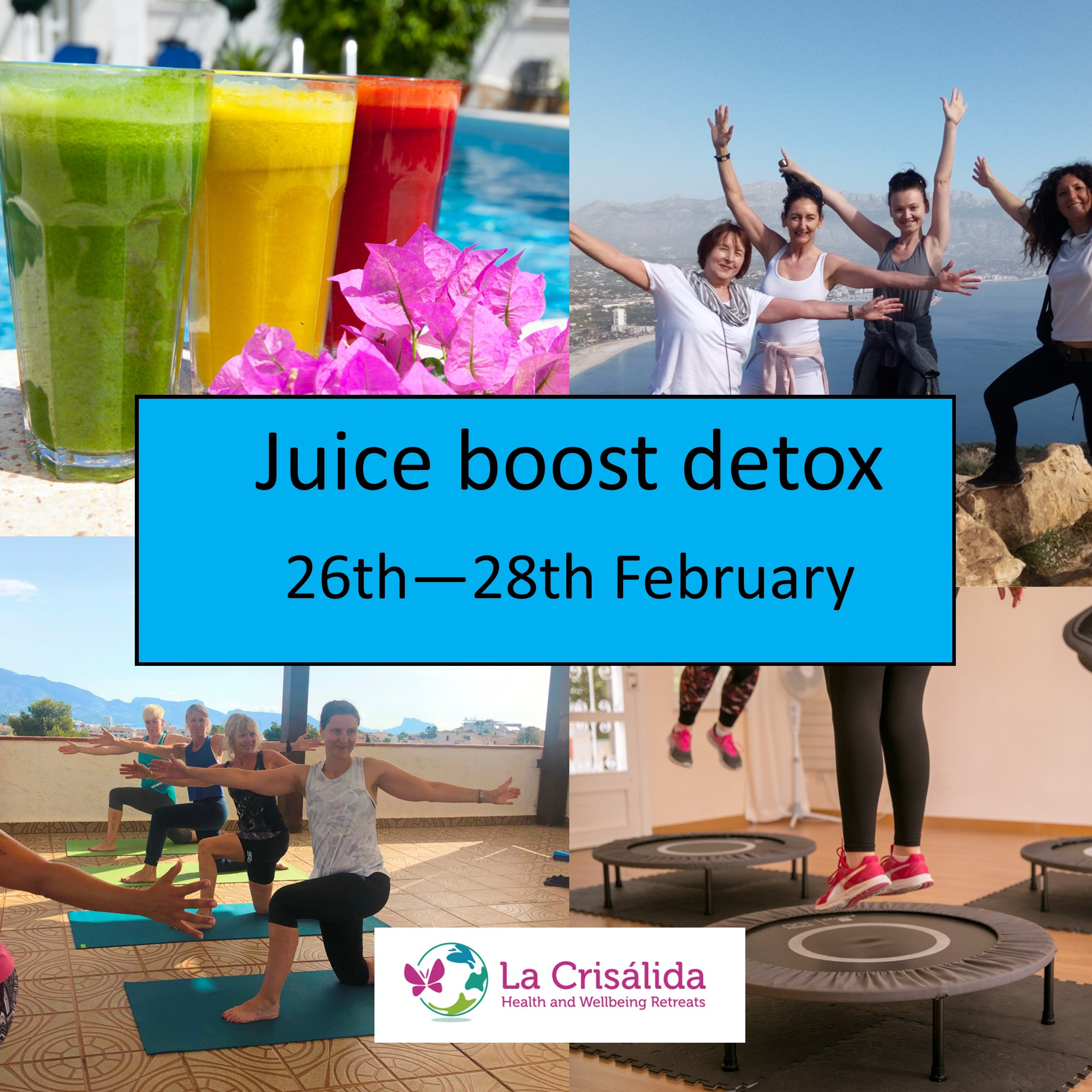 juice boost detox weekend La Crisalida online retreat February 2021