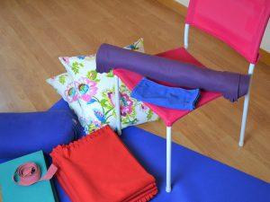 restorative yoga at home equipment and props