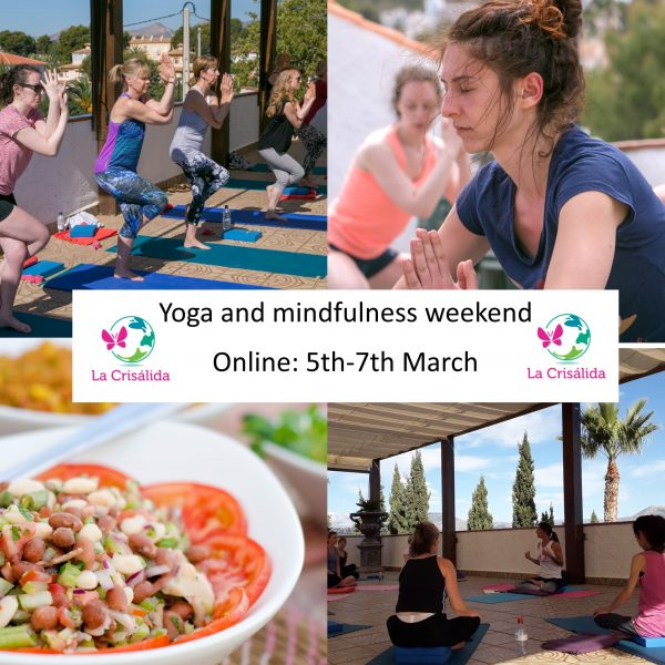 online yoga and mindfulness weekend March21