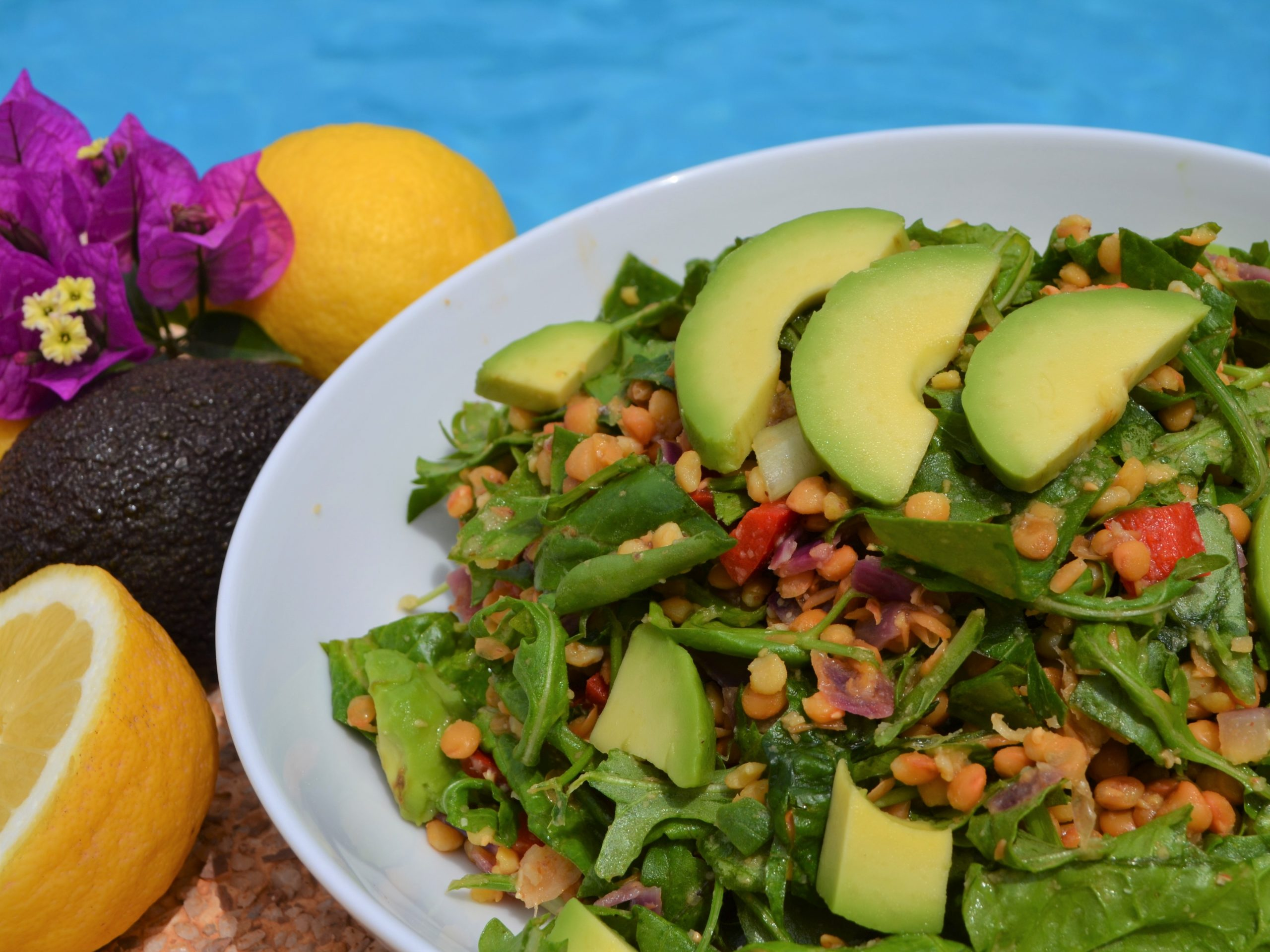 Vegan lentil salad recipe plantbased nutrition La Crisalida