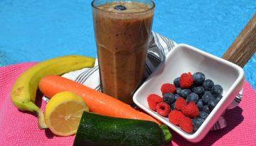 blueberry smoothie free recipe from La Crisalida detox retreat Spain